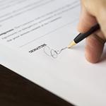 firma sobre papel derecho civil